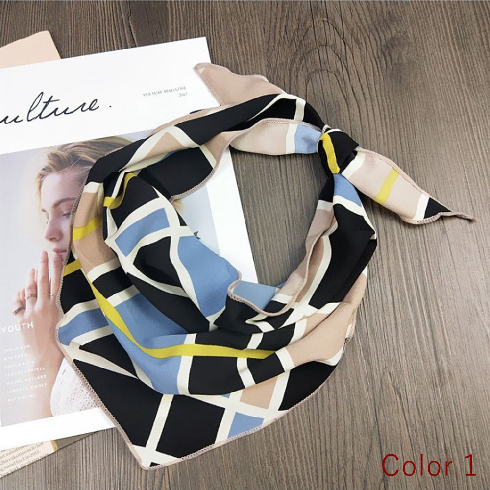 Silk Scarf Women 33*85 Small Soft Squares