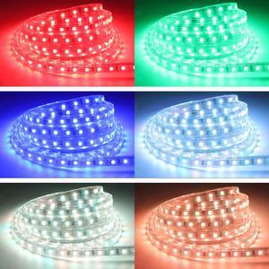 Image 2 - โทรศัพท์ APP และรีโมทคอนโทรล RGB LED Strip 220 V 220 V ไฟกันน้ำ LED Strip Light 60 LEDs/M 5050 ริบบิ้น ledstrip เทป IL