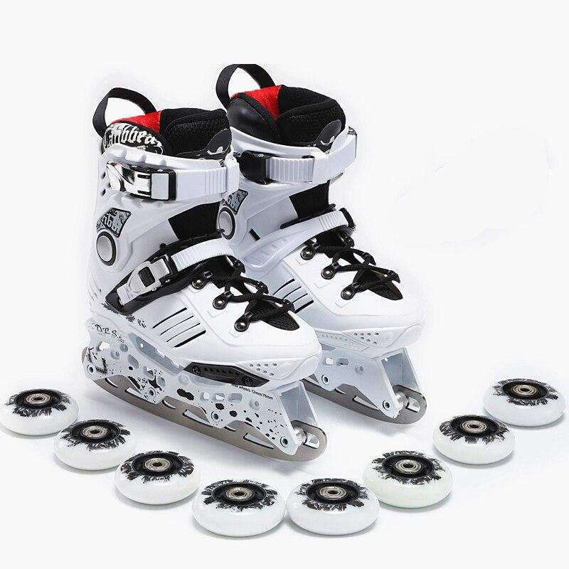 Patins à glace multifonctions patins à roulettes hommes et femmes chaussures adultes couteaux de patinage artistique pour débutants patinage double usage