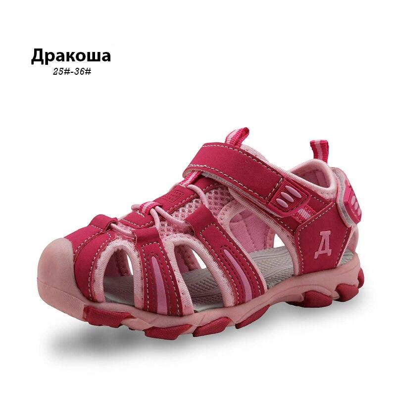 Apakowa 22017 Neue Kinder Kinder Schuhe Mädchen Jungen Sandalen Sommer Closed Toe Sandalen Für Kinder Kleine Große Kinder Strand Mädchen Sandalen PüNktliches Timing