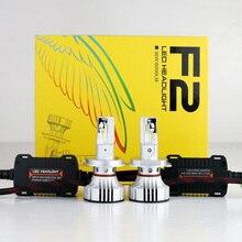 2 шт H4 F2 автомобиля светодиодный фар H1 H7 H8 H9 H11 9005 9006 HB3/4 9012 HIR2 72 W 12000LM CSP чипы Turbo Вентилятор 6000 K спереди лампы накаливания