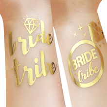 50Pc Bridal Shower Bridesmaid Gift Wedding Decoration Bride Team Temporary Tattoo Bachelorette Party Bride Tribe Flash Tattoos,Q