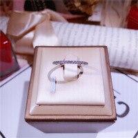 Ряд слоистых Кольца Серебро Простой Циркон миди кольцо pure S925 серебряное кольцо Knuckle Кольца для Для женщин Jewelry Bagues Anillos подарок