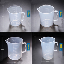 1set (250ml,500ml,1000ml,2000ml) Plastic beaker with handle Measuring Cup Food Grade PP School laboratory Kitchen Supplies 2000ml chemistry laboratory stainless steel measuring beaker cup with pour spout