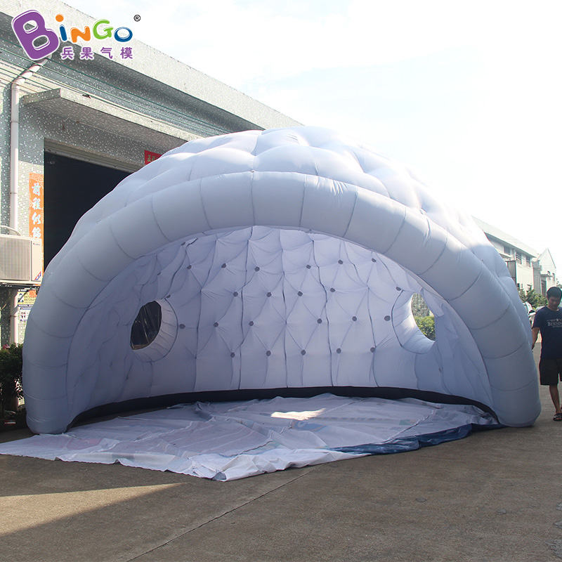 Free shipping 6X4m inflatable dome igloo for outdoor event customized inflatable canopy for trade show advertising tent toy tent factory direct sale 6x6x3 5 m inflatable dome igloo tent for outdoor event high quality blow up all white yurt tent toy tent