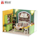 iiE CREATE DIY Dollhouse Toys with Furniture LED Voice Control Switch Dustproof Cover Romantic Kids Christmas Gift Lovely House