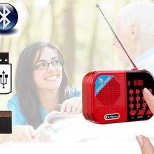 Перезаряжаемый Bluetooth беспроводной динамик fm-радио приемник портативное мини-радио Поддержка TF карты музыкальный плеер
