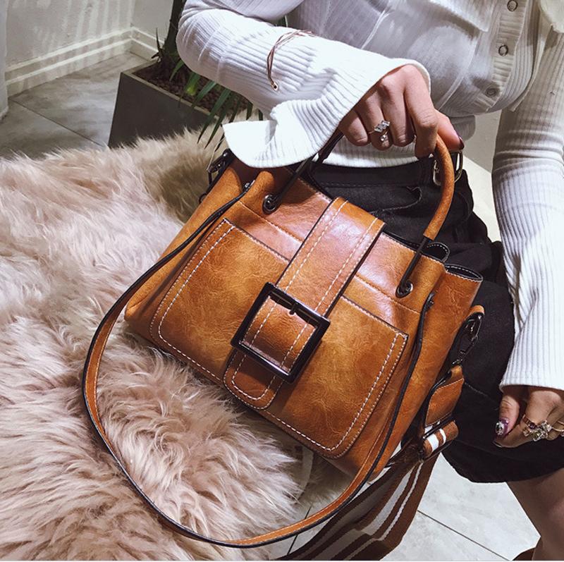 New European and American style vintage PU women handbag shoulder bag messenger bag 90