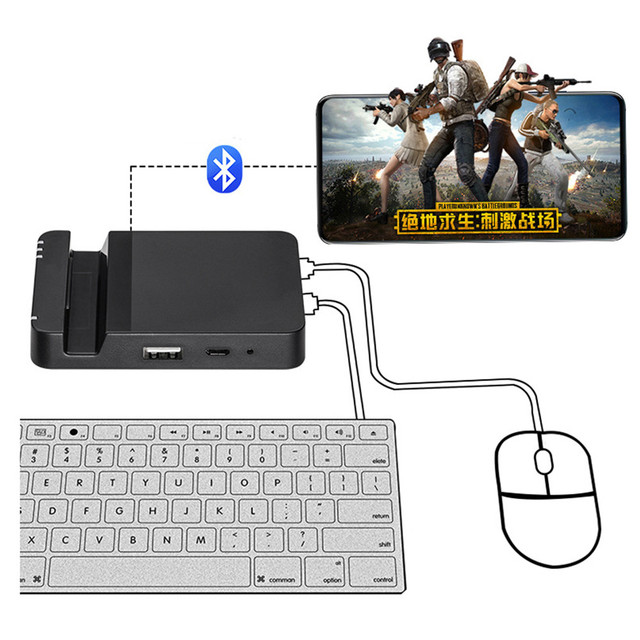 0205c88dd76 Bluetooth Keyboard Mouse Converter PUBG Game Controller Mobile Phone Games  Wireless Converter Adapter Dock for Android Tablet-in Replacement Parts ...