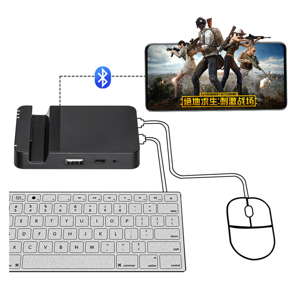 Bluetooth Keyboard Mouse Converter Pubg Game Controller Mobile Phone Games Wireless Converter Adapter Dock For Android Tablet Replacement Parts Accessories Aliexpress