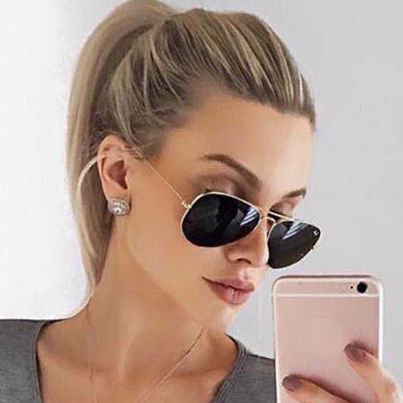3f56e0c498 ... Aimade Classic Oversize Aviation Sunglasses Women Men Retro Brand Designer  Driving Big Mirror Pilot Sun Glasses ...