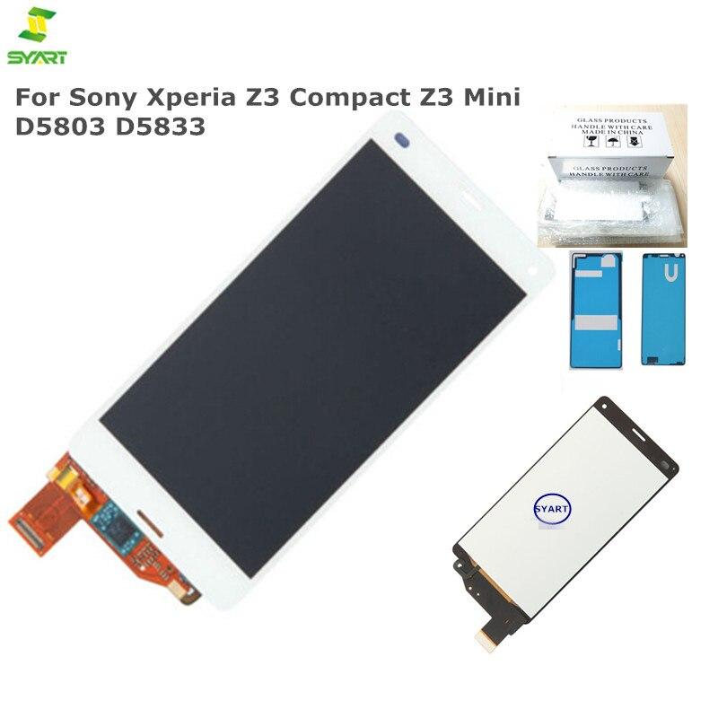 4.6 pouce Noir LCD Z3 mini Pour SONY Xperia Z3 Compact Z3 Mini D5803 D5833 Affichage Écran Tactile Digitizer Colle + outils 10 Pcs/Lot
