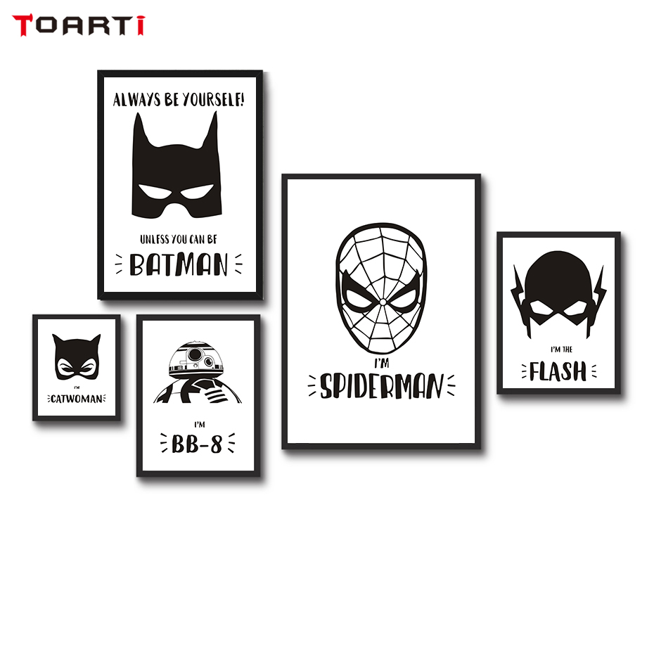 Online-Shop Batman Superheld Maske Movie Poster Nordic Design ...