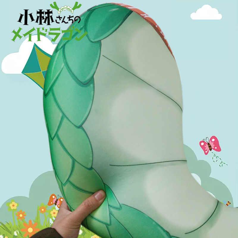 Grande Tamanho 60 cm Anime Chi Não Kobayashi-san Empregada Dragão de Pelúcia brinquedo Macio Dragão Travesseiro Cauda Cosplay Boneca Das Crianças Dos Miúdos Meninas presentes
