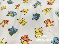 50 180cm Flannel Elasticity Knitting Cotton Fabric For Pocket Monster Pikachu Sewing Diy Boy Patchwork Child