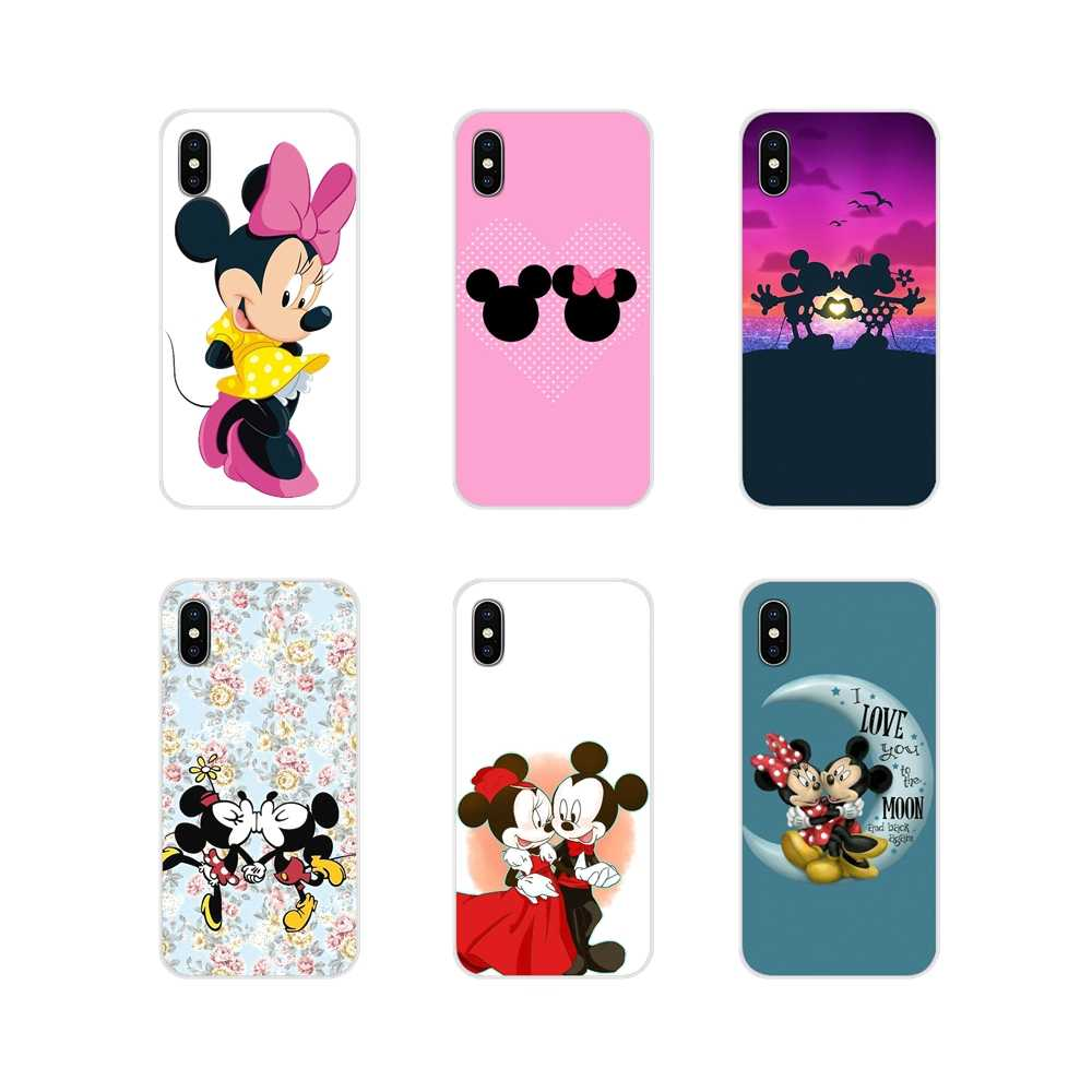 Minnie Mickey Mouse kissing Capa de Silicone Capas Para Huawei G7 G8 P7 P8 P9 P10 P20 P30 Lite Mini Pro P Smart Plus 2017 2018 2019