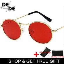 Retro oval sunglasses Women 2019 Luxury brand designer vintage small black Red Yellow Men shades oculos UV400