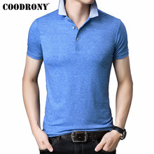 COODRONY Spring Summer Short Sleeve T Shirt Men Business Casual Tshirt Soft Cotton T-Shirt O-Neck Top Tee Homme S95149