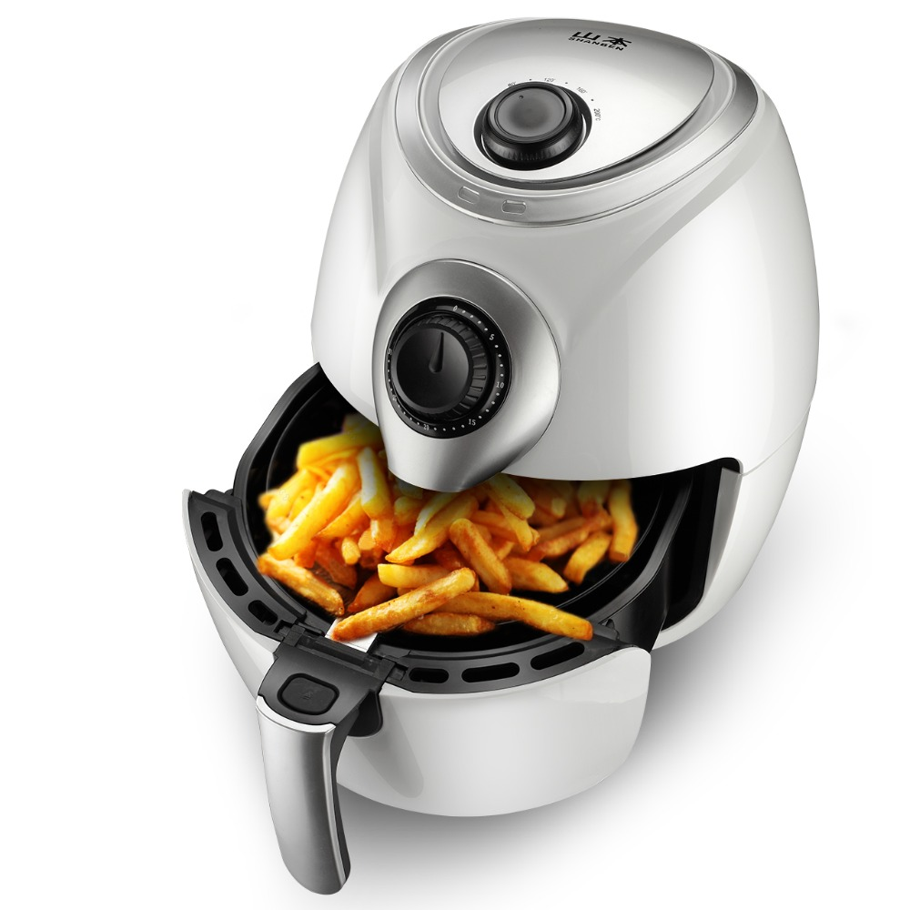 220V 2.6L Electric Deep Fryer Household Air Fryer Oil Free And Smokeless Intelligent French Fries Machine пуф french fries