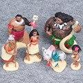 6 Pcs/Set Action Figures Moana Waialiki Maui Heihei Moana Maui Hanhan Adventure PVC Princess Toy Collection Dolls Children Gift
