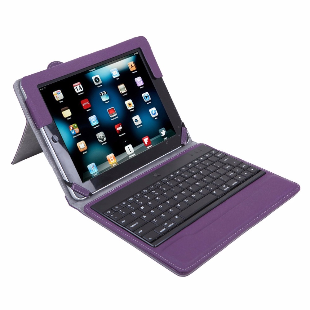 bilder für Abnehmbare Drahtlose Bluetooth Tastatur Fall Für iPad 2/3/4, abnehmbare Bluetooth Tastatur Fall Mit Ständer Ledertasche Für ipad 4