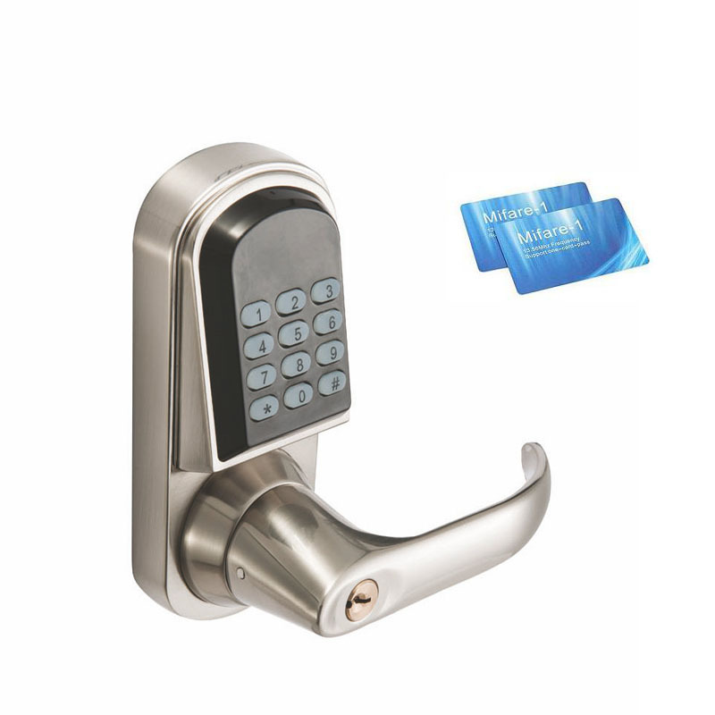 DL1115 Electronic Lock Numeric Keypad Code, RF Card, Mechanical Key, Zinc Alloy Rust usb pos numeric keypad card reader white