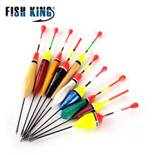 Hot New 10PCS/Lot Mix Size Color Fishing Float Bobber Set Buoy Boia Floats For Carp Fishing Tackle Accessories 10pcs lot 6 in 1 size sss ss s m l xl xxl rubber oval stopper fishing bobber float connector fishing tackle accessories