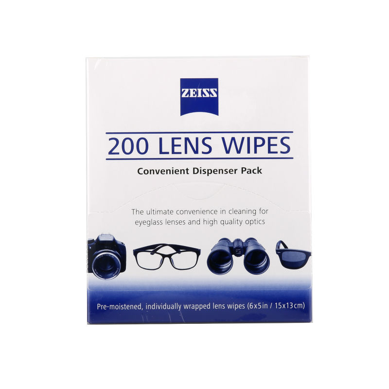 Zeiss Pre-moistened Lens Wipes Cleaning for Eyeglass Lenses Sunglasses Camera Lenses Cell Phone Laptop Lens Clothes 200ct Pack