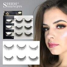 Shidishangpin 3 Pairs Mink Eyelashes Natural Fake Eye Lashes Make Up Handmade 3d False Lash Volume Eyelash Extension