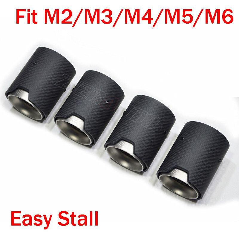 Carbon Fiber Exhaut tips for BMW M2 M3 M4 M135i M235i M140i M240i Mufflers Matte Glossy