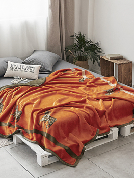 High quality cloud blanket Nordic blanket flannel coral fleece blanket thickening autumn and winter leisure blanket фото