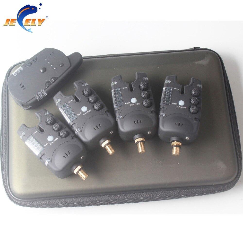 JY-48 détecteur de touches sans fil détecteur de touches ensemble 8 led pour carpe détecteur de touches ensemble (2 alarme + 1 récepteur)