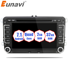 Eunavi 2 din 7 Quad Core android 7 1 car dvd radio player 2din gps For