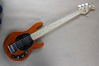 Free Shipping Factory Music Man StingRay5 Music Man 5 Strings Orange Electric Bass Guitar Ernie Ball