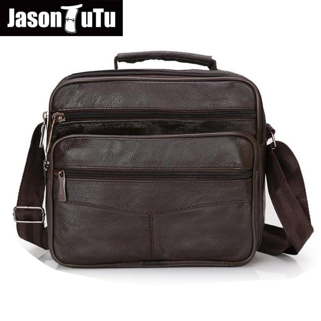 Genuine Leather Men Bag Shoulder Business Crossbody Handbag Black Brown Large Medium Small