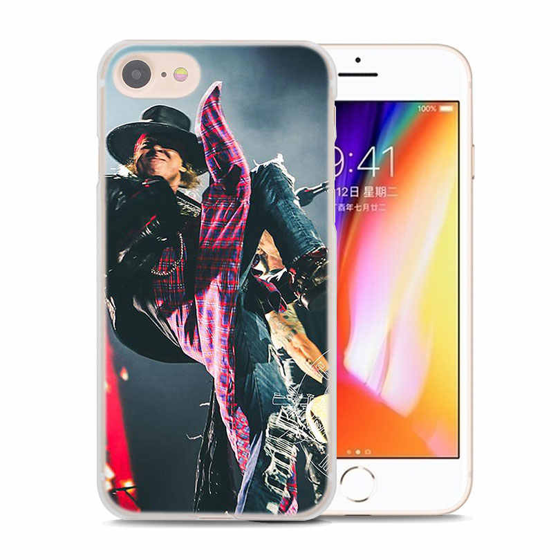 deviantart guns n roses Pattern Transparent hard Phone Case for Apple  iPhone X XS XR XS MAX 7 8 Plus 6 6s Plus SE 5S