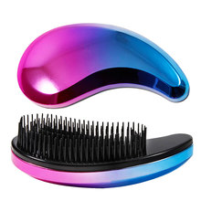 1pcs Anti-static Hair Brush Comb Styling Tools Shower Electroplate Detangling Massage Combs for Salon Styling Women Girls Hair