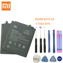 100% Original Real 4100mAh BN43 Battery For Xiaomi Redmi Note 4X Snapdragon 625 / Note 4 global Snapdragon 625 xiaomi redmi note 4x 3gb 32gb official global rom fingerprint identification ir remote control 5 5 inch miui 8 0 qualcomm snapdragon 625 octa core up to 2 0ghz network 4g matte black