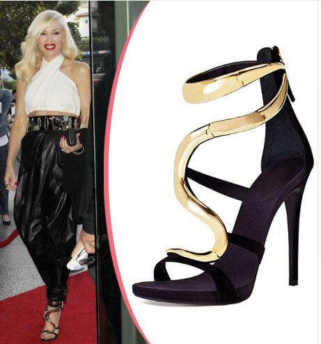ФОТО Summer new sexy women sandals open toe stiletto high heel sandals T-strap closure type  black and brown can choose suit to party
