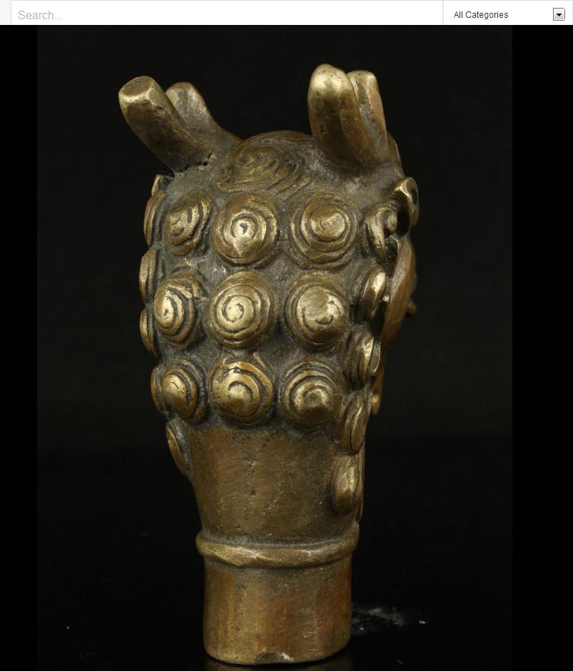 Zhmui880062809 * <<+ + +手仕事彫刻ブロンズ激闘ドラゴンスタチュー杖ステッキお守り