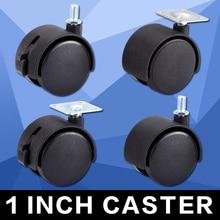 Myhomera колесико для мебели, колесико, 30 мм, М8 винт/пластина, поворотные ролики, колеса, заменяющие оборудование, тележка, бесшумная защита тормозов