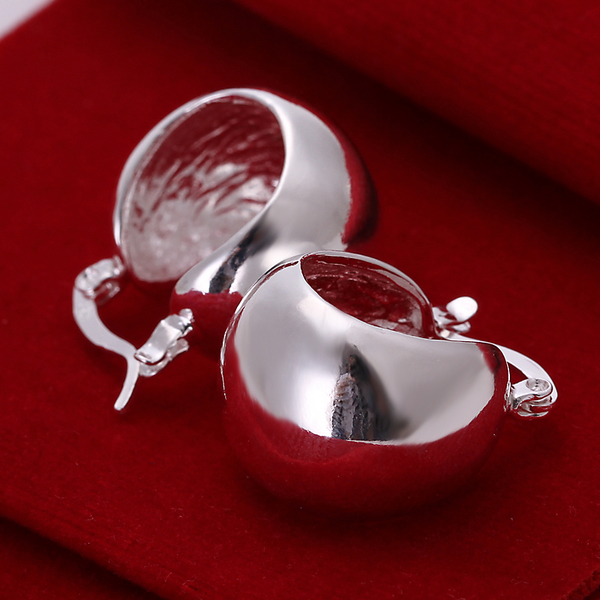 Free Shipping 925 Sterling Silver Fashion Jewelry Earrings For Women Round Small Earrins L100