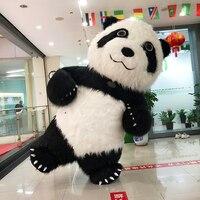 Новый тип китайский панда надувные костюмы черного цвета для рекламы 2 м/2,6 м/3 м подходит для 1,6 м до 1,95 м взрослых