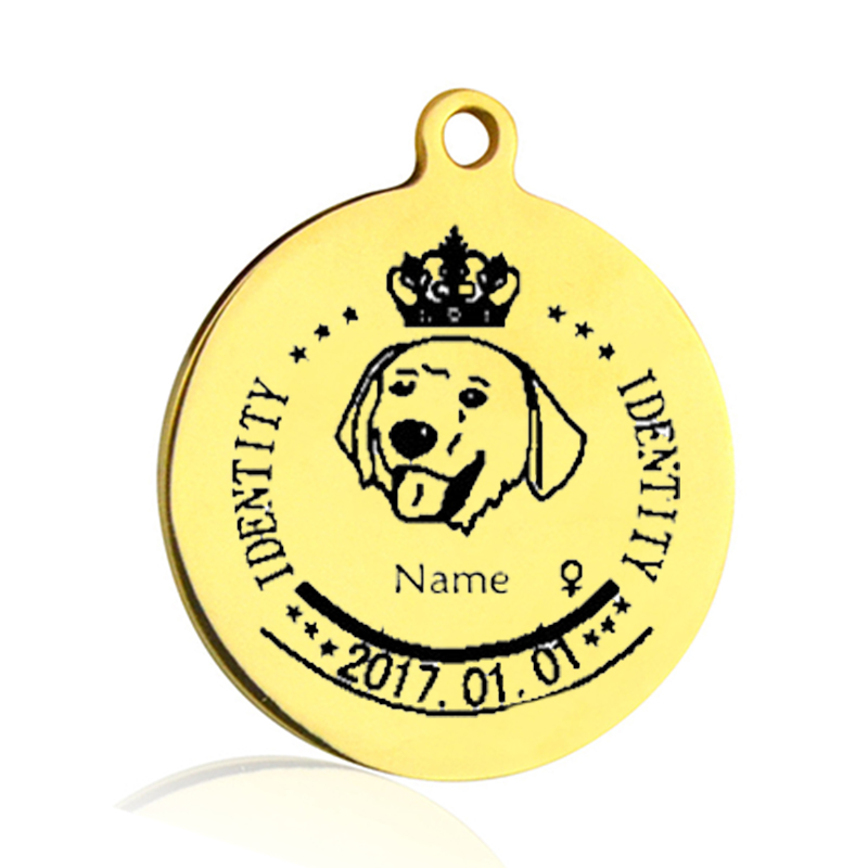 Pet Tag Personalized Nama Dog Cat Tag Stainless Steel Gratis Terukir - Produk hewan peliharaan - Foto 2