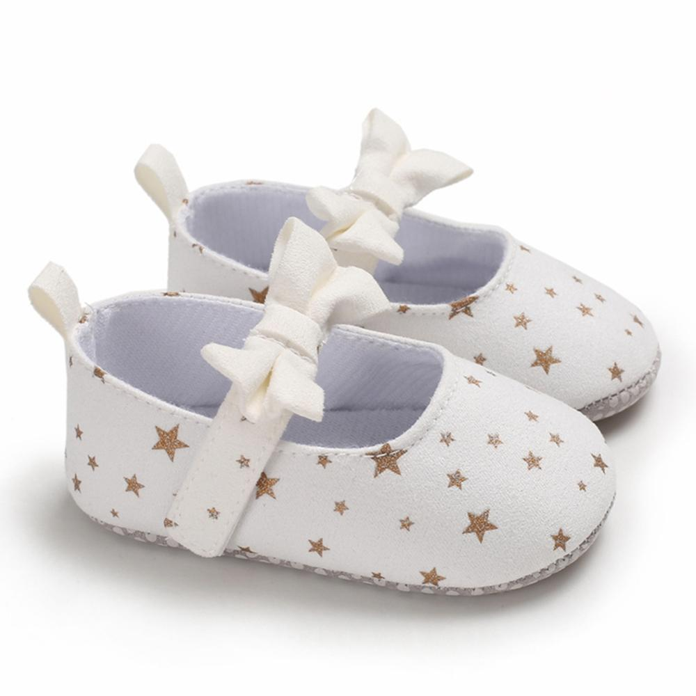 Baby Shoes Girls First Walkers For Newborns Autumn Soft Sole Non-Slip Infant Bowknot Princess Shoes Sneakers 0-18M