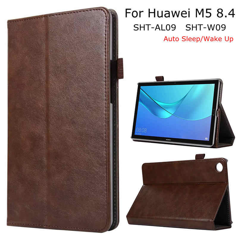 Luxe Smart Case voor Huawei MediaPad M5 8.4 SHT-AL09/W09 Tablet, iBuyiWin Magnetische PU Leather Funda Cover Soft TPU + Gratis Film + Pen