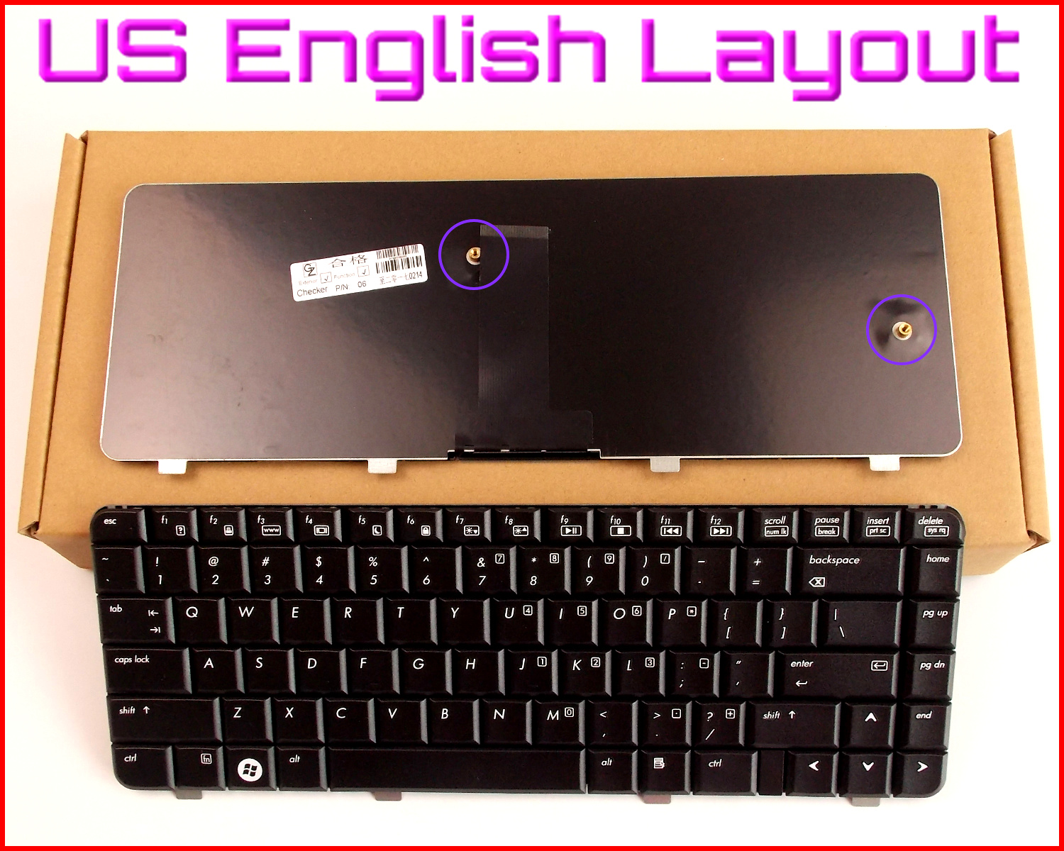 New Keyboard US English Version for HP/Compaq 540 541 550 6520 6520S 6720  6720S V061126AS1 455264-001 456624-001 Laptop