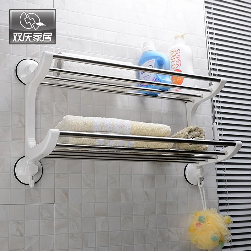 Stainless Steel Towel Rack Bathroom Towel Rack Bathroom Accessories Wall Mounted Storage Sq 1805