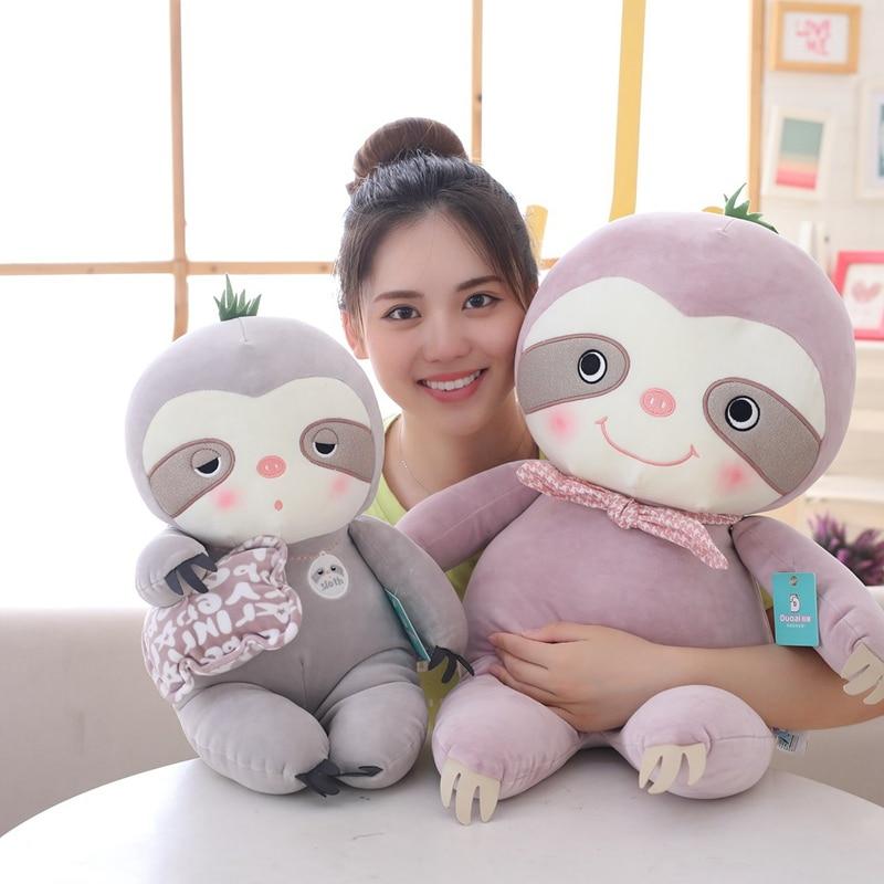Novo 1pc 30-65cm sentado preguiça brinquedos de pelúcia criativo animais de pelúcia boneca sentado longo bebê mãe crianças presente de aniversário natal