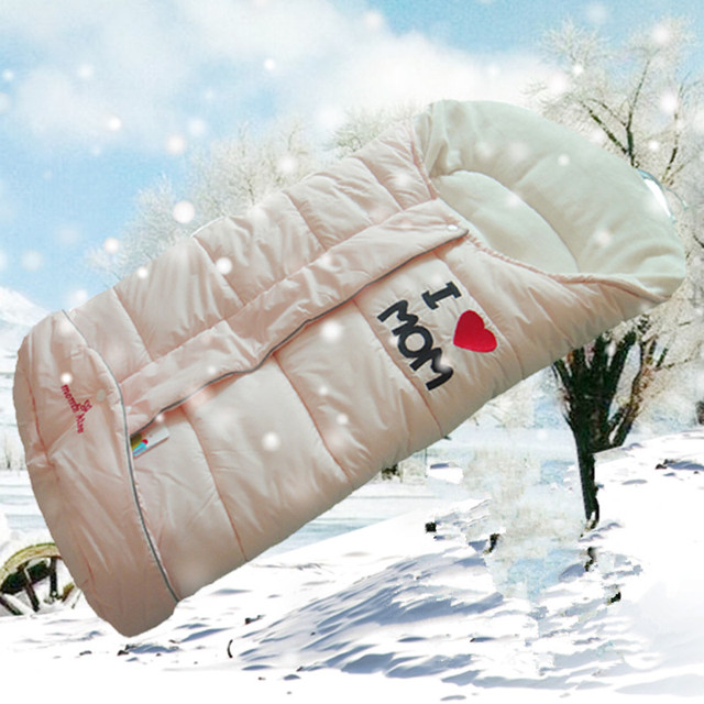 Momskiss baby winter sleeping bag holds anti tipi child thickening envelope sleeping bag cart sleeping bag
